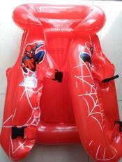 Áo phao đỡ cổ tập bơi cho bé trai từ 1 – 5 tuổi màu đỏ người nhện