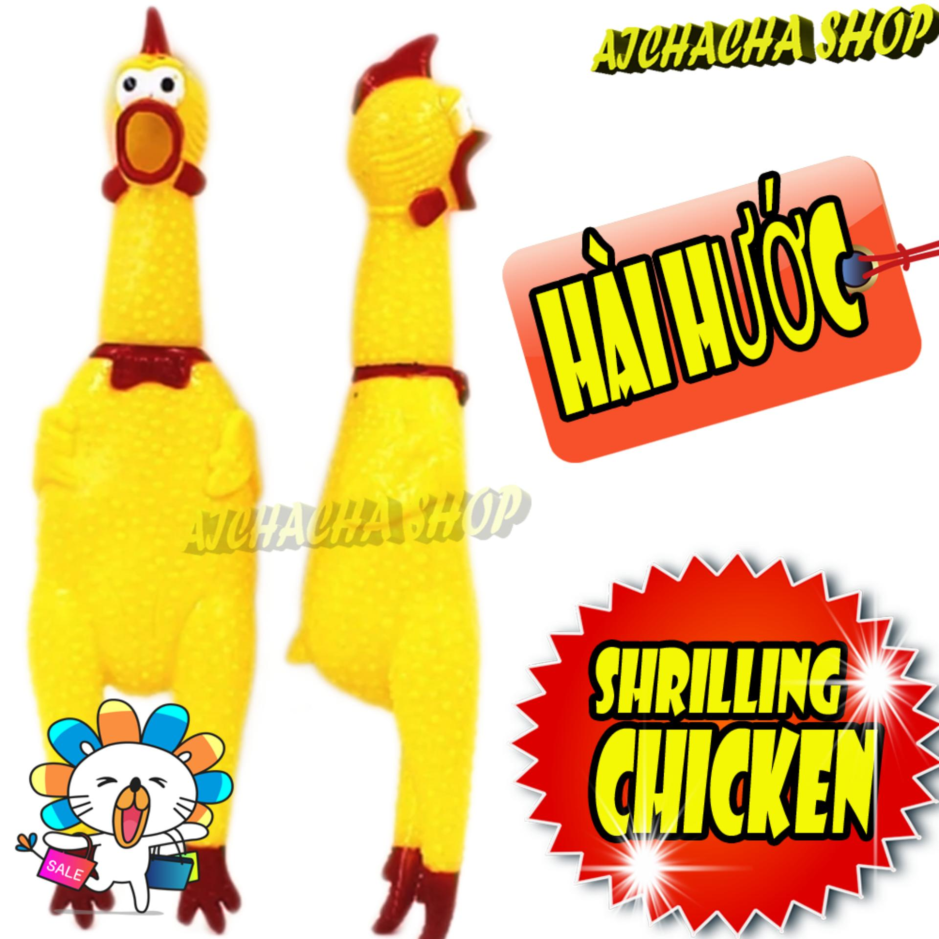 Gà bóp kêu Shrilling Chicken món quà tặng hài hước 31cm (có video)-aichacha shop