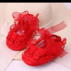 Giày ren tập đi cho bé gái