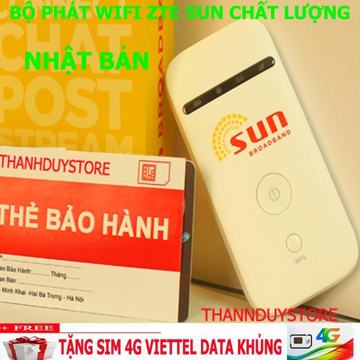 Bộ phát Wifi 3G 4G SUN MF65 Tốc Độ Cao, Tặng kèm Siêu sim 4G Đang Bán Tại Duy Nhất Center