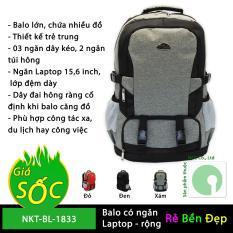Balo túi xách du lịch nhiều ngăn bằng vải dù – NKT-BL-1833 (Nhiều màu)