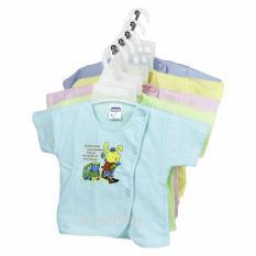 Áo sơ sinh ngắn tay màu Bosini cho bé trai, bé gái từ sơ sinh đến 11kg