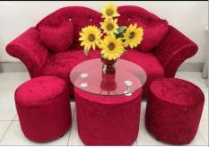 Bộ Sofa spa studio áo cưới Mina Furniture MNBS-LOVE-V4 (ĐỎ)