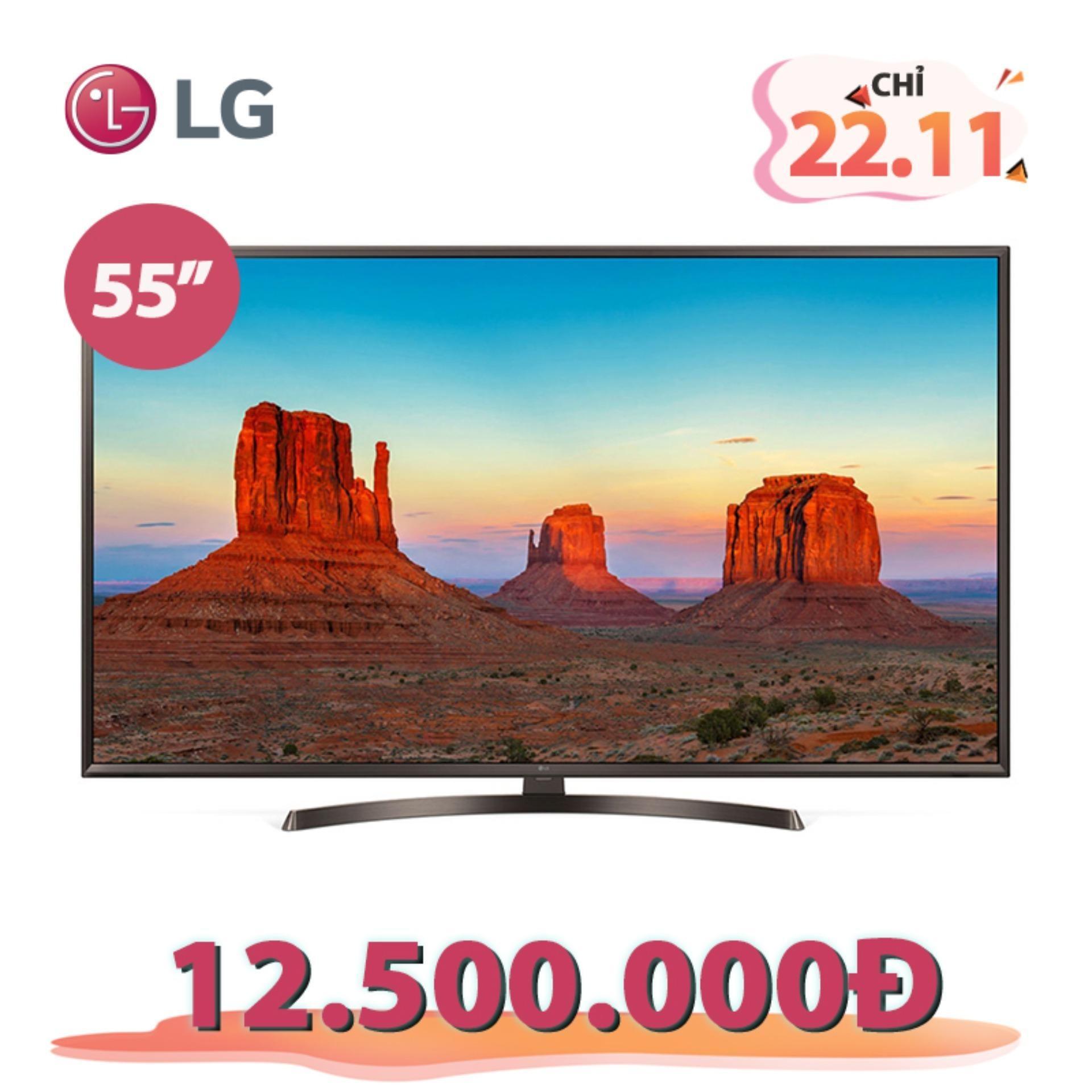 Smart TV UHD LG 55inch 4K Ultra HD - Model 55UK6340PTF (Đen) - Hãng phân phối chính thức
