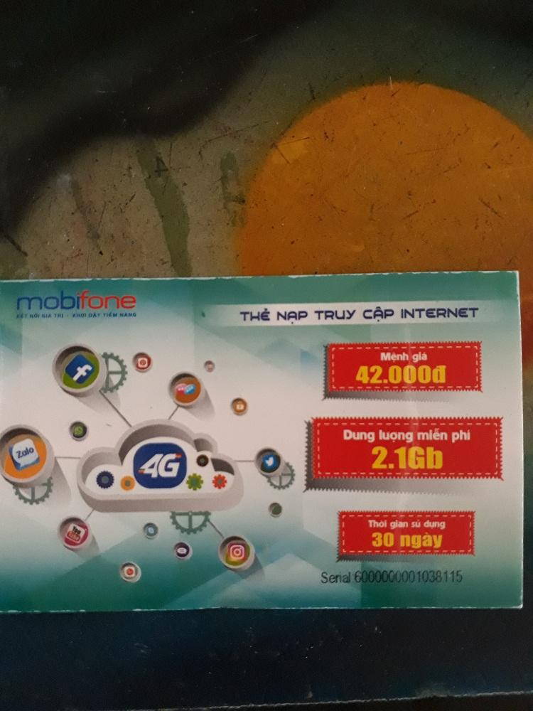 Giá Bộ 10 Thẻ Nạp 3G Mobifone 2.1GB Tốc Độ Cao Tại Hometek