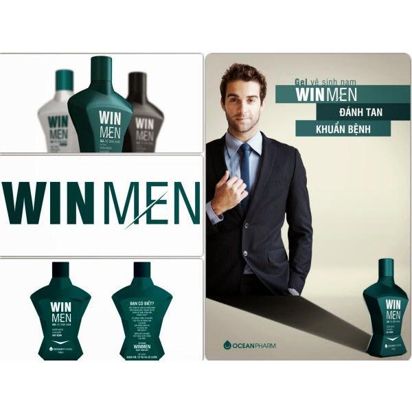 Gel vệ sinh nam Winmen 110ml – Dung dịch vệ sinh vùng kín nam giới, kháng khuẩn, giữ ẩm, hương bạc hà mát lạnh