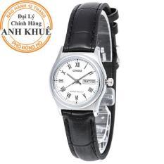 Đồng hồ nữ dây da Casio Anh Khuê LTP-V006L-7BUDF