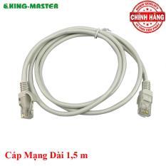 Dây cáp mạng LAN Internet bấm sẵn KingMaster dài 1,5m chuẩn cat 5e