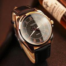 Đồng hồ nam thời trang nam dây da cao cấp Yazole DA10