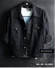 Áo Khoác Jeans Nam Đen Phong Cách cá tính vải cực đẹp M41