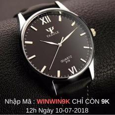 Đồng hồ nam Yazole 318 dây da sang trọng (Đen) + Tặng hộp đồng hồ Win Win