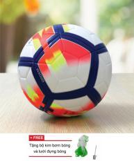 Quả bóng đá tiêu chuấn số 5 bóng đúc mẫu ngoại hạng 2017/2018 (Tặng kim bơm và túi lưới)