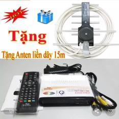 Đầu thu kỹ thuật số DVB T2 Ltp model LTP Stb 1306 + ăng ten 15m dây