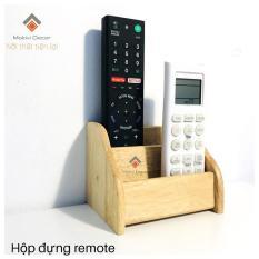 Hộp gỗ đựng remote, kệ gỗ đựng vật dụng mini tiện lợi cho nhà Bạn