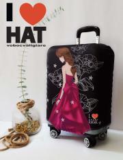 Vỏ bọc vali công chúa váy hồng S-M-L