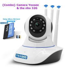 Camera IP Yoosee 3 anten kèm thẻ 32G hãng