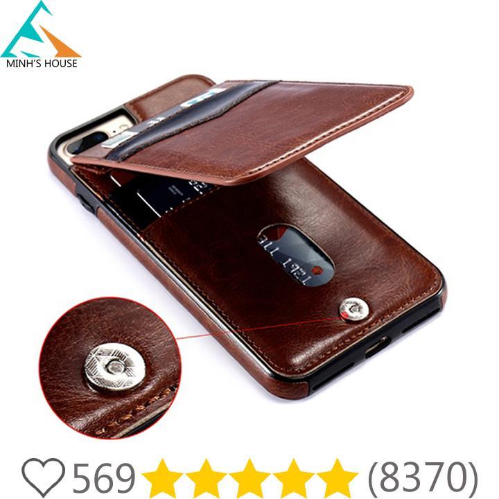 Mua Bao da kiêm ví đựng tiền, thẻ, card.. cho các dòng IPhone Plus 6,7,8 rất tiện lợi Minh's House Tại Minh's House