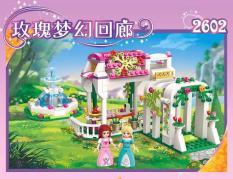 Xếp hình lego công chúa LEAH dạo chơi trong khu vườn hoa hồng-ENLIGHTEN 2602
