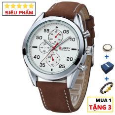 Đồng hồ nam cao cấp dây da chống nước CURREN CR06 – Arman Watches (Trắng)