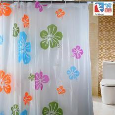 Màn treo nhà tắm hình bông hoa mẫu mới