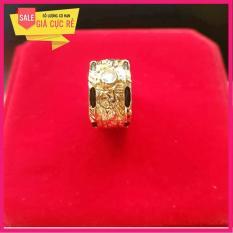 Nhẫn lông voi bạc Thái mạ vàng 24k cao cấp