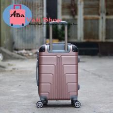 Vali nhựa du lịch kéo tay 20inch bảo hành 12 tháng(màu hồng)
