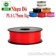 Cuộn nhựa in 3D chất liệu PLA 1.75mm 1kg (màu đỏ)