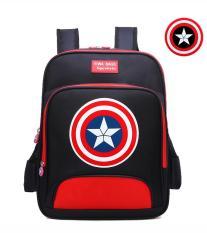 Balo học sinh cỡ lớn vải nylon cao cấp hình Captain America cho bé