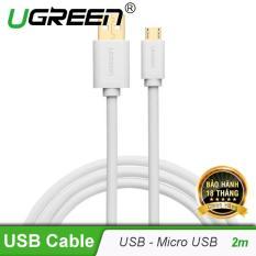Dây Micro USB 2.0 sang USB mạ vàng dài 2m UGREEN US125 – Hãng phân phối chính thức