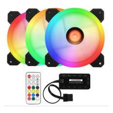 Bảng Giá Bộ 3 fan 12cm Coolmon RGB Led Ring kèm remot và hub tặng kèm Tại Technologie