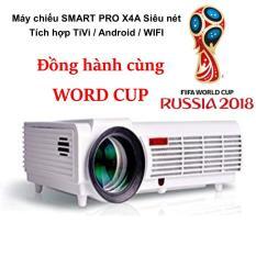 Máy chiếu Siêu nét X4A Tích hợp TiVi / Android / WIFI chuyên dụng xem bóng đá – Đồng hành cùng WORD CUP