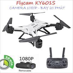 Flycam KY601S Bay 20 Phút, Cánh Gập Camera WIFI FPV Full HD 1080p Truyền Hình Ảnh Về Điện Thoại