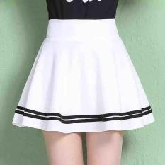 Chân váy xoè viền thuỷ thủ siêu duyên dáng ( Free size ) màu trắng