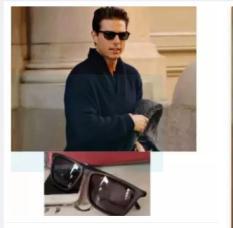 bộ 2 kính mát nam nữ kiểu tây (đen)