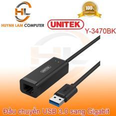 Đầu chuyển USB to Gigabit – Đầu chuyển USB to RJ45 Unitek Y-3470BK hãng phân phối