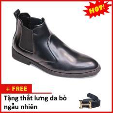 Giày Chelsea boot nam đẹp cổ chun da nhám CB520(TL)