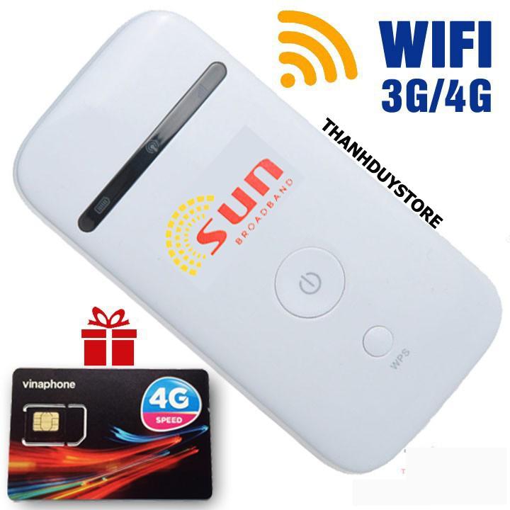 Mua Bộ phát Wifi 3G 4G SUN chất lượng nhật bản – tặng sim Data khủng 120GB – Phát Wifi di động giá rẻ Tại Thanh Duy Store