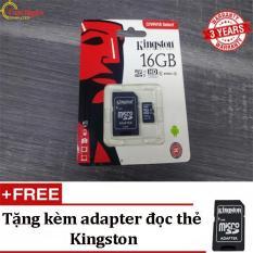 Thẻ Nhớ Kingston 16GB MicroSDHC Canvas Select 80R – Tặng kèm Adapter đọc thẻ