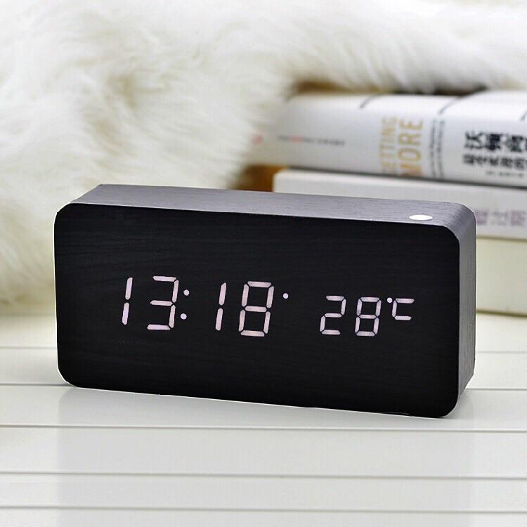 Đồng hồ LED gỗ để bàn đa chức năng LK862
