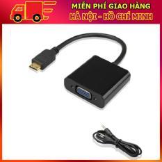 Cáp chuyển đổi Mini HDMI sang VGA có âm thanh HDMI To VGA Adapter (Đen)