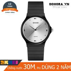Đồng hồ nữ thời trang dây cao su siêu bền Skmei D16 chống nước 30m