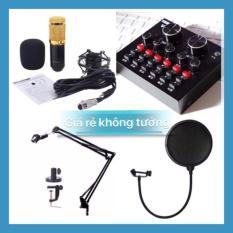 Combo suond card v8 và mic bm800