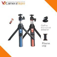 Chân máy ảnh thông minh 3 trong 1 (gậy tự sướng, chân máy, chân gopro)- Benro smart mini tripod MK10 (màu đen phối đỏ) – Hàng nhập khẩu