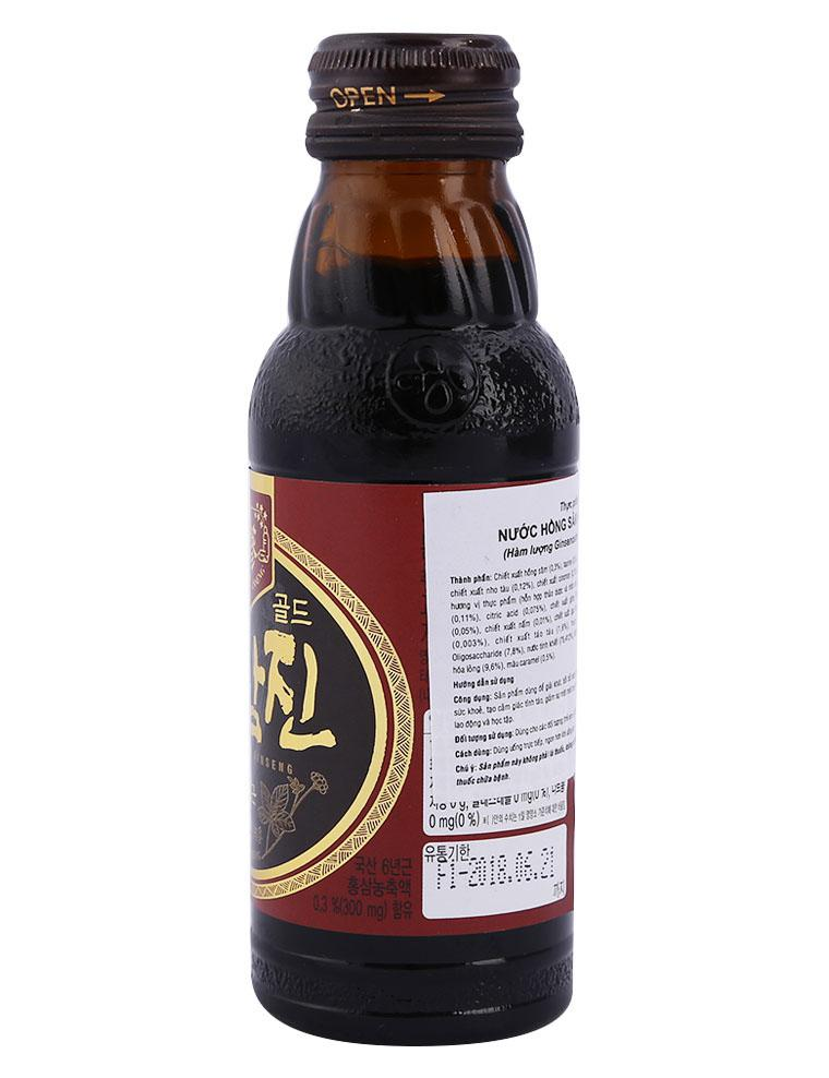 Nước hồng sâm Hongsamjin Gold CJ chai 100 ml, sản phẩm tốt, chất lượng, dễ dàng sử dụng, giá cả...