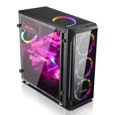 Vỏ case máy tính Vitra S7 Black – 1 Mặt kính trước Không Fan