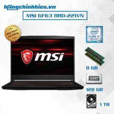 Laptop MSI GF63 8RD-221VN (i7-8750H, VGA GTX 1050TI 4GB, 15.6 inches, Win 10) – Hãng phân phối chính thức