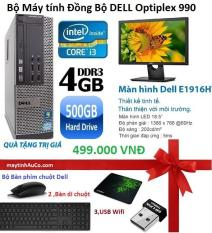 Bộ Máy Tính để bàn Đồng Bộ Dell Opiplex 990 (core I3 /4G/500G/gtx730) Và Màn Hình Dell 18.5inch Wide Led , Tặng Bàn phím chuột Dell , USB wifi , bàn di chuột – Hàng Nhập Khẩu