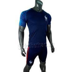 Bộ đồ quần áo đá banh – bóng đội tuyển Pháp màu xanh đen mẫu chính thức Wolrd cup 2018