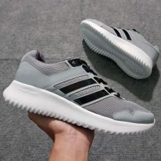 Giày Sneaker Nam Nữ ( Xám Phối Đen )