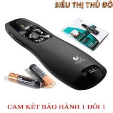 but trinh chieu- but day hoc- but laser- Bút trình chiếu Logiteh R400 + Bao bảo vệ Bảo hành 1 năm